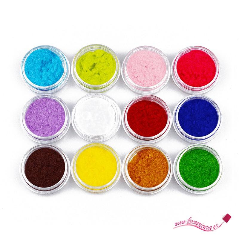 Pack terciopelo uñas colores