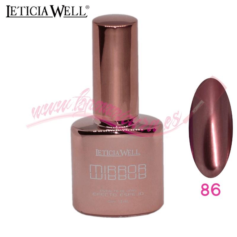 Esmalte de Uñas Efecto Espejo Leticia Well Nº 86