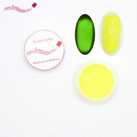 Pigmentos uñas efecto fluorescente Amarillo