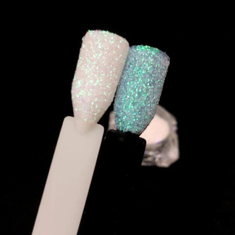 Efecto azúcar uñas holográficas 3