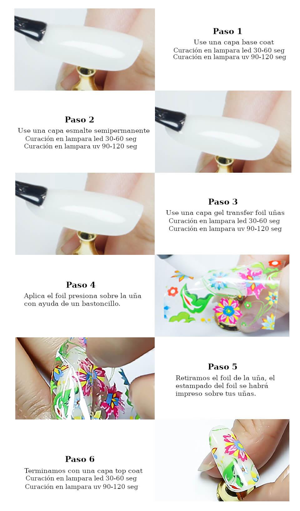 Manual de colocación de foil uñas